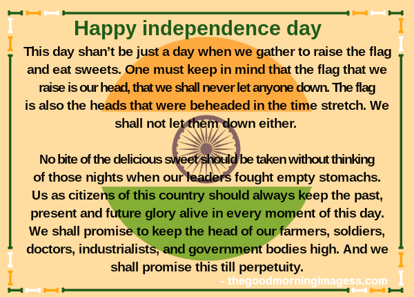 Independence Day Speech 2020