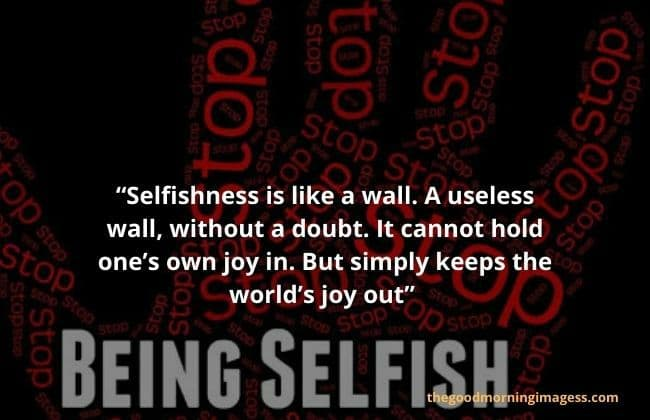 Selfish quotes in English